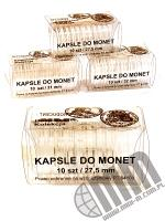 Kapsle do monet pakowane po 10 szt / 27,5 mm
